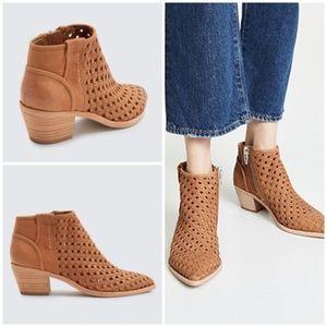 Anthro Dolce Vita Spence lattice weave heeled boot